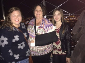 My sister, My mom , and I on the empire state building